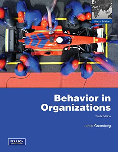 9781408264300: Behavior in Organizations.