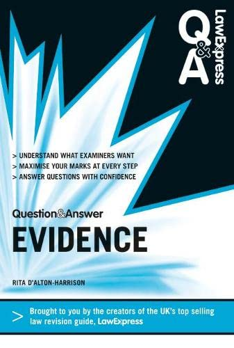 9781408266670: Law Express Question and Answer: Evidence Law (Q&A Revision Guide) (Law Express Questions & Answers)
