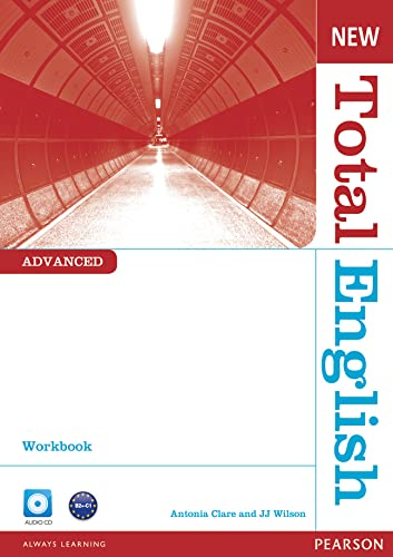 9781408267325: New Total English Advanced Workbook Without Key and Audio CD Pack