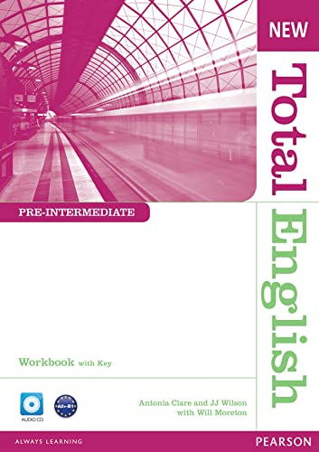 9781408267370: New Total English Pre-Intermediate Workbook with Key and Audio CD Pack