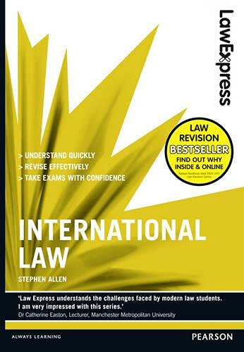 9781408267806: Law Express: International Law (Revision Guide)