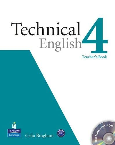 9781408268063: Technical english. Teacher's book-Test master. Per le Scuole superiori. Con CD-ROM: Technical English Level 4 Teacher's Book/Test Master CD-ROM Pack