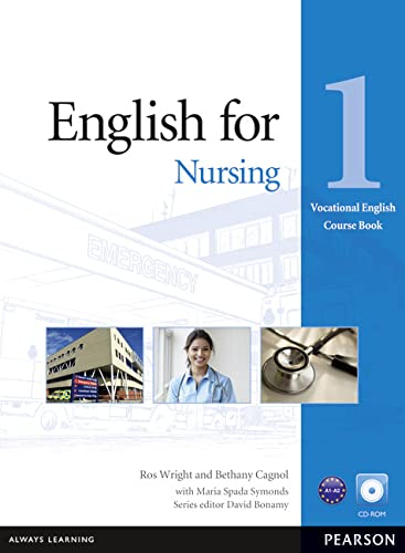 9781408269930: English for Nursing 1 Course Book with CD-ROM (Vocational English Series)