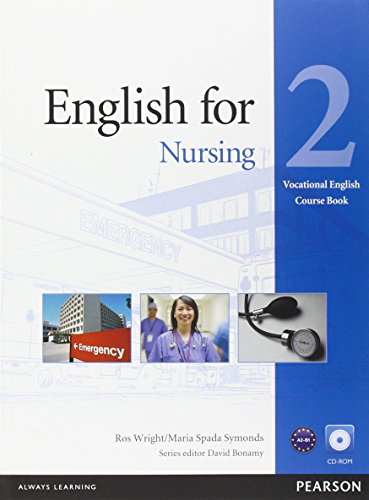9781408269947: English for Nursing Level 2 Coursebook and CD-ROM Pack (Vocational English)