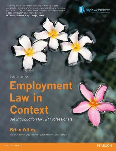 9781408270479: Employment Law in Context: An Introduction for HR Professionals