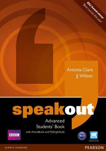 9781408276051: Speakout Advanced Students' Book with DVD/Active Book and MyLab Pack