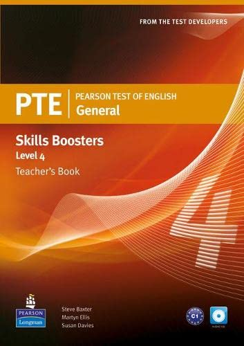 9781408277959: Pearson Test of English General Skills Booster 4 Teacher's Book and CD Pack (Pearson Tests of English)