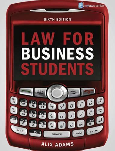 Law for Business Students mylawchamber Pack: Adams, Alix (Author)