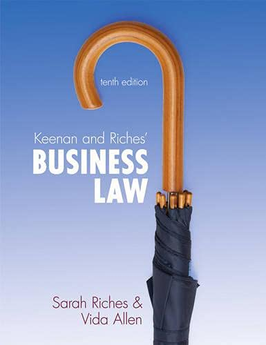 Keenan & Riches' Business Law: UK Edition: Riches, Sarah