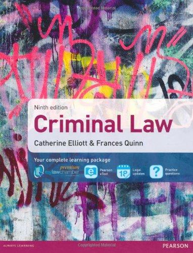 9781408280713: Criminal Law