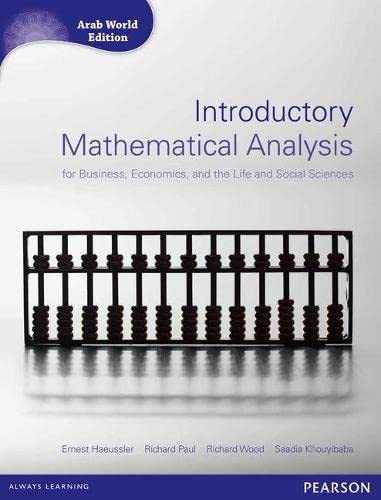 9781408286463: Introductory Mathematical Analysis for Business, Economics and Life and Social Sciences (Arab World Editions) with MathXL