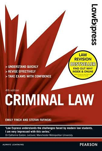 9781408295465: Law Express: Criminal Law (Revision Guide)