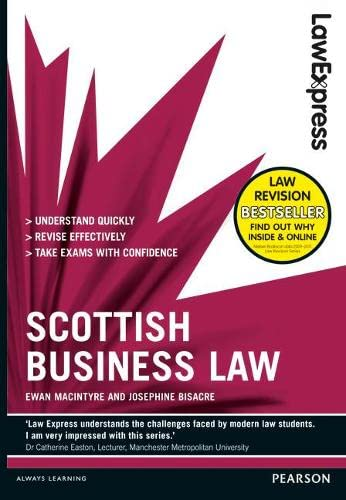 9781408296028: Scottish Business Law: Revision Guide (Law Express)