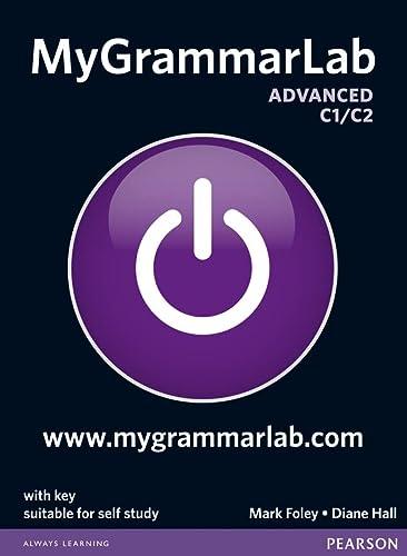 9781408299111: MyGrammarLab Advanced with Key and MyLab Pack [Lingua inglese]