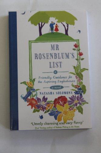9781408486054: Mr Rosenblum's List