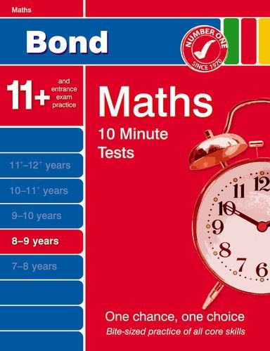 9781408502693: Bond 10 Minute Tests Maths 8-9 Years