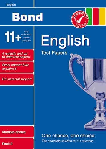 9781408502778: Bond 11+ Test Papers English Multiple Choice Pack 2