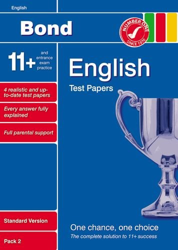 9781408502785: Bond 11+ Test Papers English Standard Pack 2