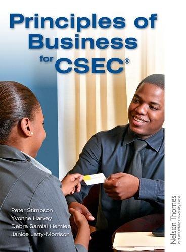 Principles of Business for CSEC (Paperback): Peter Stimpson
