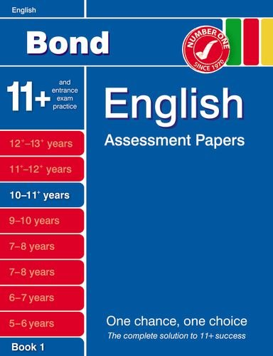 9781408515860: Bond English Assessment Papers 10-11+ Years: Bk. 1