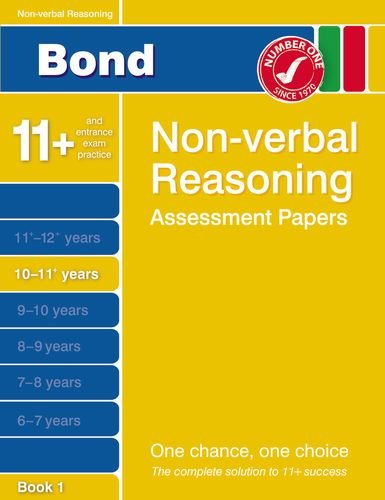 9781408517000: Bond Non-Verbal Reasoning Assessment Papers 10-11+ Years Book 1