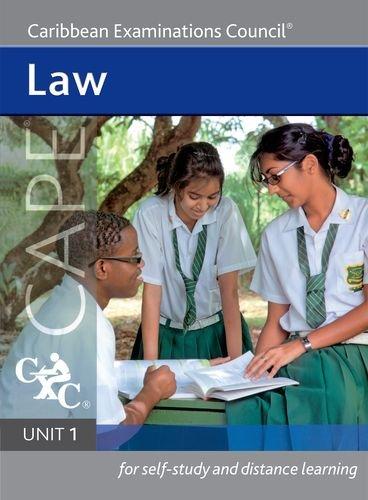 9781408517024: Law Cape Unit 1 A Caribbean Examinations Council Study Guide