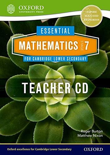 9781408519820: Essential Mathematics for Cambridge Secondary 1 Stage 7 Teacher CD-ROM (CIE IGCSE Essential Series)