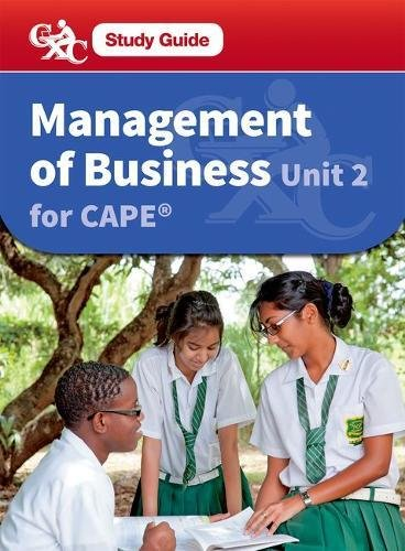 9781408520987: Management of Business CAPE Unit 2: A CXC Study Guide (Caribbean Examinations Council Study Guide)
