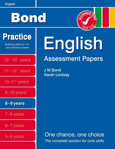 9781408525128: Bond Assessment Papers English 8-9 yrs