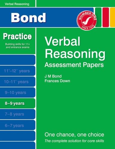 9781408525166: Bond Assessment Papers Verbal Reasoning 8-9 yrs