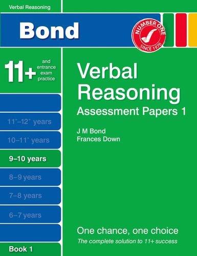 9781408525173: Bond Assessment Papers Verbal Reasoning 9-10 yrs Book 1