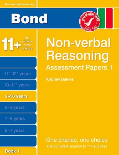 9781408525234: Bond Assessment Papers Non-Verbal Reasoning 9-10 yrs Bk 1