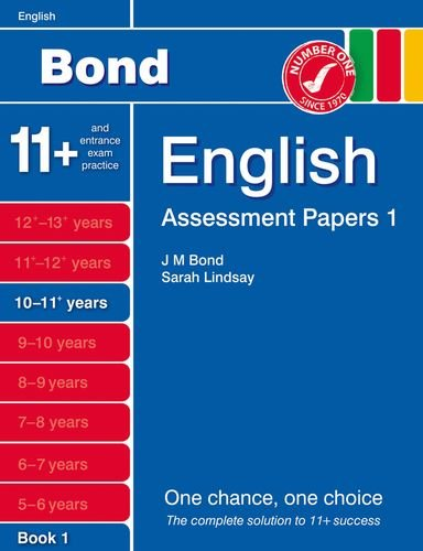 9781408525258: Bond Assessment Papers English 10-11+ yrs Book 1