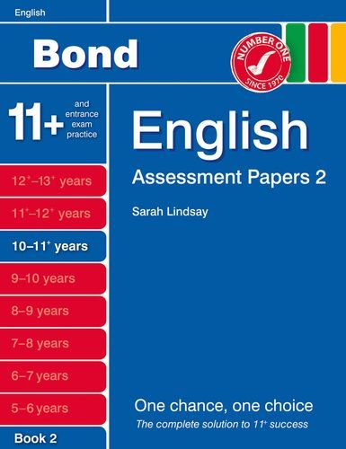 9781408525265: Bond Assessment Papers English 10-11+ yrs Book 2