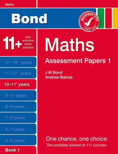 9781408525272: Bond Assessment Papers Maths 10-11+ yrs Book 1
