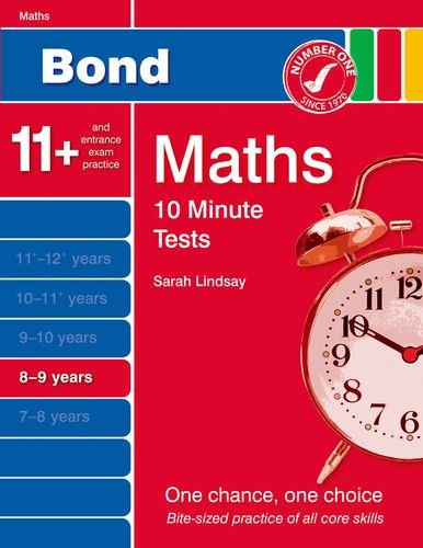 9781408525401: Bond 10 Minute Tests Maths 8-9 Years