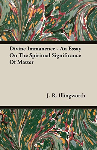 9781408602485: Divine Immanence - An Essay On The Spiritual Significance Of Matter