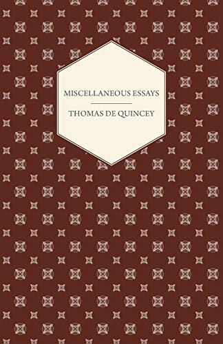 9781408628553: Miscellaneous Essays