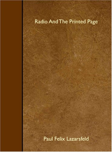 9781408640173: Radio And The Printed Page