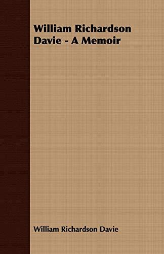 9781408641248: William Richardson Davie - A Memoir