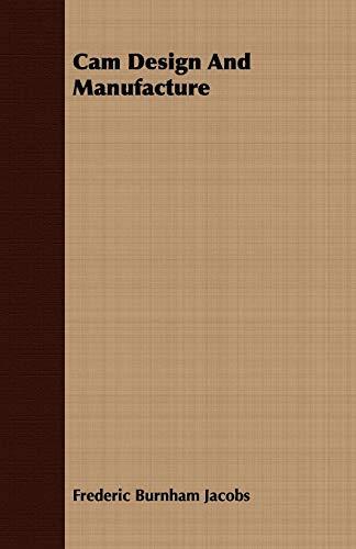 9781408652831: Cam Design And Manufacture