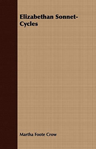 9781408668153: Elizabethan Sonnet-Cycles