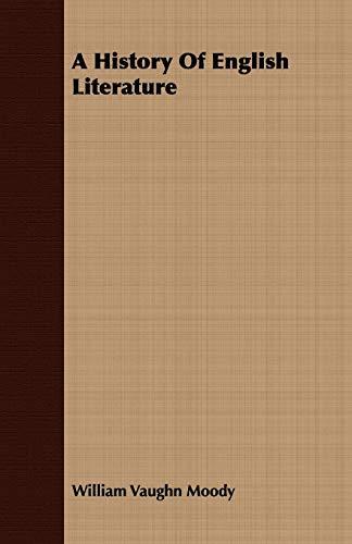 9781408681503: A History Of English Literature