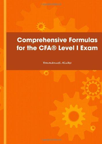 9781409295198: Comprehensive Formulas For The Cfaæ Level I Exam