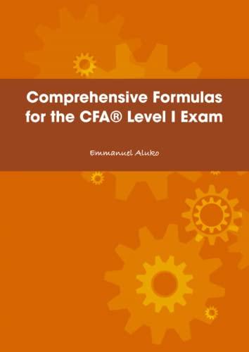 9781409295198: Comprehensive Formulas For The Cfa� Level I Exam