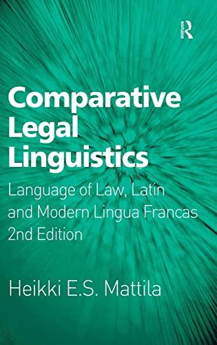 9781409439325: Comparative Legal Linguistics: Language of Law, Latin and Modern Lingua Francas