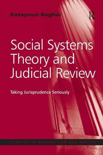 Social Systems Theory and Judicial Review: Taking Jurisprudence Seriously (Studies in Modern Law ...