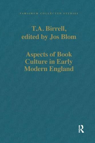 9781409455691: Aspects of Book Culture in Early Modern England (Variorum Collected Studies)