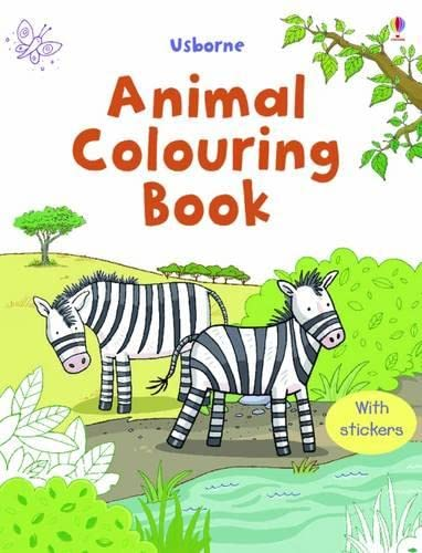Animal Colouring Book with Stickers (Sticker Colouring Book)