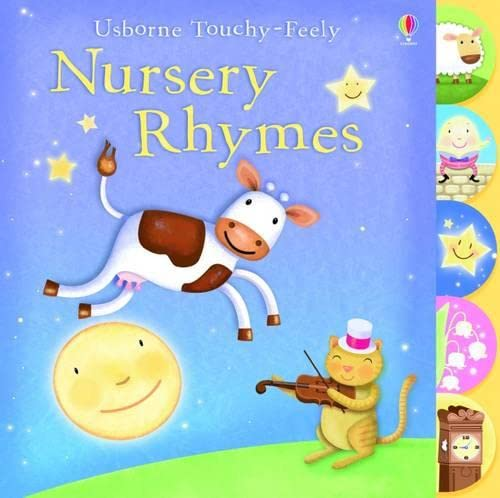 9781409508564: Touchy-feely Nursery Rhymes (Usborne Touchy Feely Books)